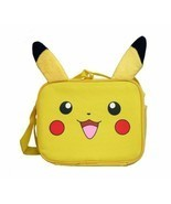Pokemon Pikachu School Lunch Bag Insulated Snack Bag with Plush Ear - £12.36 GBP