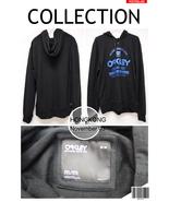 OY2BBKMM24 Oakley BLACK Sweater Blue Paint 2 Buttons SLIM FIT HOODIE MEN... - $69.99