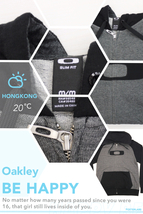 OYFZCBMM25 Oakley Charcoal & Black Sweater Front Zip Hoodie Men M Medium Size - $69.99