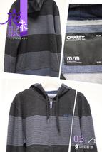 OYDFWBMM32 Oakley Wash Dark Blue Blk Denim Front Zip Slim Fit Hoodie Men M Size - $69.99