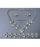 Rhinestone WIESNER Necklace Bracelet Earrings 1950s - $195.00