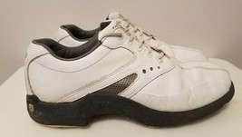 Foot Joy Superlites Mens Leather Golf Shoes White Fj Brand Size 8 Us - $22.98