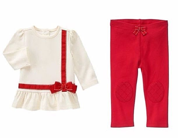 gymboree 18 24 wrapped up present top leggings christmas holiday shop nwt 1219