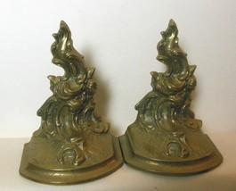"Vintage Brass Dragon Book Ends 6.5 x 5 x 3.5"" - $45.00"