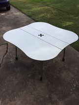 """Herman Miller 53""""White Laminate Work/Study Table W/ Dropping leaves & ca... - $280.49"""