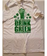 ALSTYLE  Drink Green Beer  St Patricks Mens  Short  Sleeve T-Shirt  Size... - $11.99