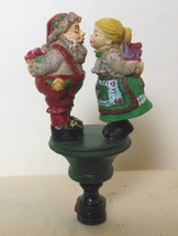 "Mr and Mrs Santa Clause Lamp Finial 3.75"" Resin - $12.40"