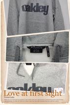 OYCFGMLS30 Oakley Grey Marle Pullover Cherrish Fleece Fit Hoodie Lady S Size - $69.99
