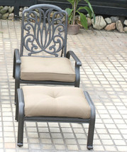 Elisabeth 5pc set patio chaise lounge chairs cast aluminum outdoor furniture image 2