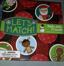lets match holly jolly friends board game..new - $6.79