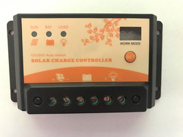 NSEE 12/24V 10A Auto Switch Work Mode LCD Battery Charger Controller Sol... - €22,33 EUR