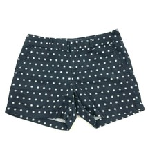 Tommy Hilfiger Boyfriend Shorts Women's Size 6 Blue Polka Dot Flat Front... - $17.83