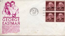 Stamps -U. S. Postage First Day of Issue George Eastman 1954 - $2.75