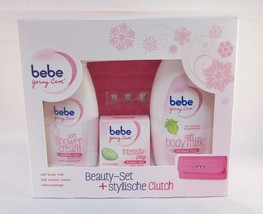 Bebe Young Care Gift Set Face Cream,Body Cream,Shower Gel + CLUTCH-FREE Shipping - $46.52