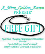 FREEBIE! Spell Cast Charging Cleansing Cord Necklace 4 Enchanted Haunted Jewelry - Freebie
