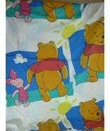 Disney Winnie the Pooh Piglet Twin Sheet Flat Fabric - $12.86