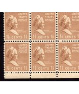 Stamps  U. S. Postage  1 1/2 Cent Martha Washington Stamps 6 Mint Stamps - $2.50