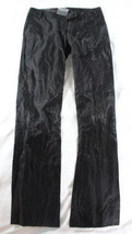 "~~~ LOVE THE GLIMMER ACTION ~~~ PLEIN SUD ""WRINKLED"" BLACK SHIMMER PANTS... - $80.41"