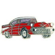 Chevy 1957 Red Car Pin Pinback - $7.91