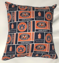 Auburn University Pillow Tigers Pillow NCAA Football Pillow HANDMADE In USA - $9.97