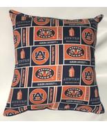 Auburn University Pillow Tigers Pillow NCAA Football Pillow HANDMADE In USA - $9.97