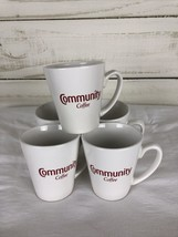 Community Coffee Logo 16oz Mug White Collectible Cup Coffee Lot Of 5 Cups - $32.66