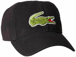 Lacoste Men's Classic Gabardine Premium Cotton Big Croc Logo Adjustable Hat Cap image 2