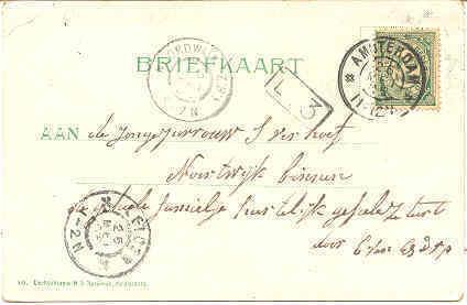 Nieuwmarkt Amsterdam vintage 1905  Post Card