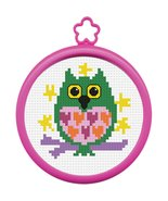 Bucilla My 1st Stitch Mini Counted Cross Stitch Kit, 45641 Owl - $6.92