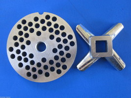 """#22 x 1/4"""" hole STAINLESS Meat Grinding Grinder Plate disc & Cutter Knife - $33.08"""