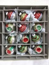 Christopher Radko Christmas Shiny Brite Red Gre... - $29.99