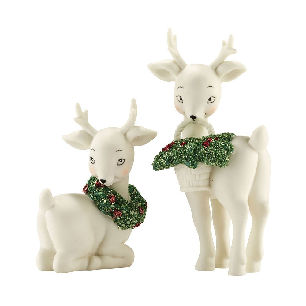 Snowbabies Classics Ornamentally Deer Figurine, 3-Inch, Set of 2