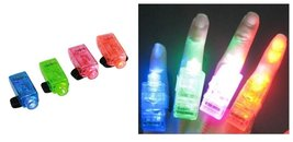 LED Finger Lights Lamps Party Laser Torch Glow Ring - Random Color (10PCS)