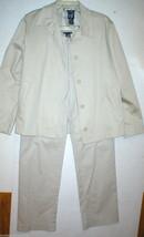 Gap Suit Separates Blazer Jacket Pants 6 Beige Khaki Tan Womens Nice Wor... - $50.00