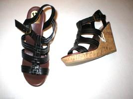 New Womens 11 DV Dolce Vita Sandals Gladiator Black Wedge Shoes Heels Bu... - £43.06 GBP