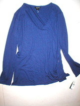NWT New Natori Lounge Top Womens Dark Blue LS Large L  Soft Office Jerse... - $98.00
