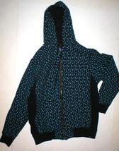 New Mens M Beautiful Giant Black Blue Video Gaming Symbols Hoodie Jacket... - $95.00