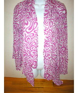 NWT Te Verde Open Jacket Wrap Mauve Pink White M Womens New Yoga Von Mau... - $18.00
