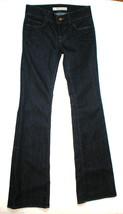 New Designer J Brand Jeans Very Dark Flare 25 Womens 34.5 Tall Low Rise - $84.00