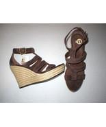 Authentic New Womens 9 9.5 10 UGG Wedge Sandals Platform Raffia Dark Bro... - $68.80