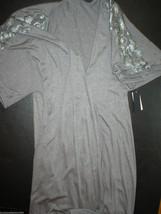 NWT New Natori Padma Gray Wrap Robe Womens S Very Soft Solid Jersey Pock... - $91.00