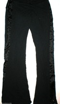 GUC Womens Otomix Pants Large Black Cotton Satin Zipper legs Drawstring L - $30.00
