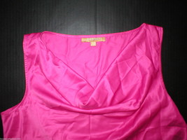 New Womens NWT $49 Ellen Tracy Bright Pink Fuschia Top Blouse Dahlia L Cowl - $49.00