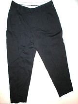 New Womens Black Navy Blue Designer Elie Tahari Linen Pants 28 X 25.5 Cr... - $72.00