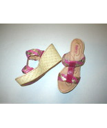 New Womens 9 Born Sandals Shoes Wedge Pink Comfort Gold Tan Braid Barsto... - $46.00