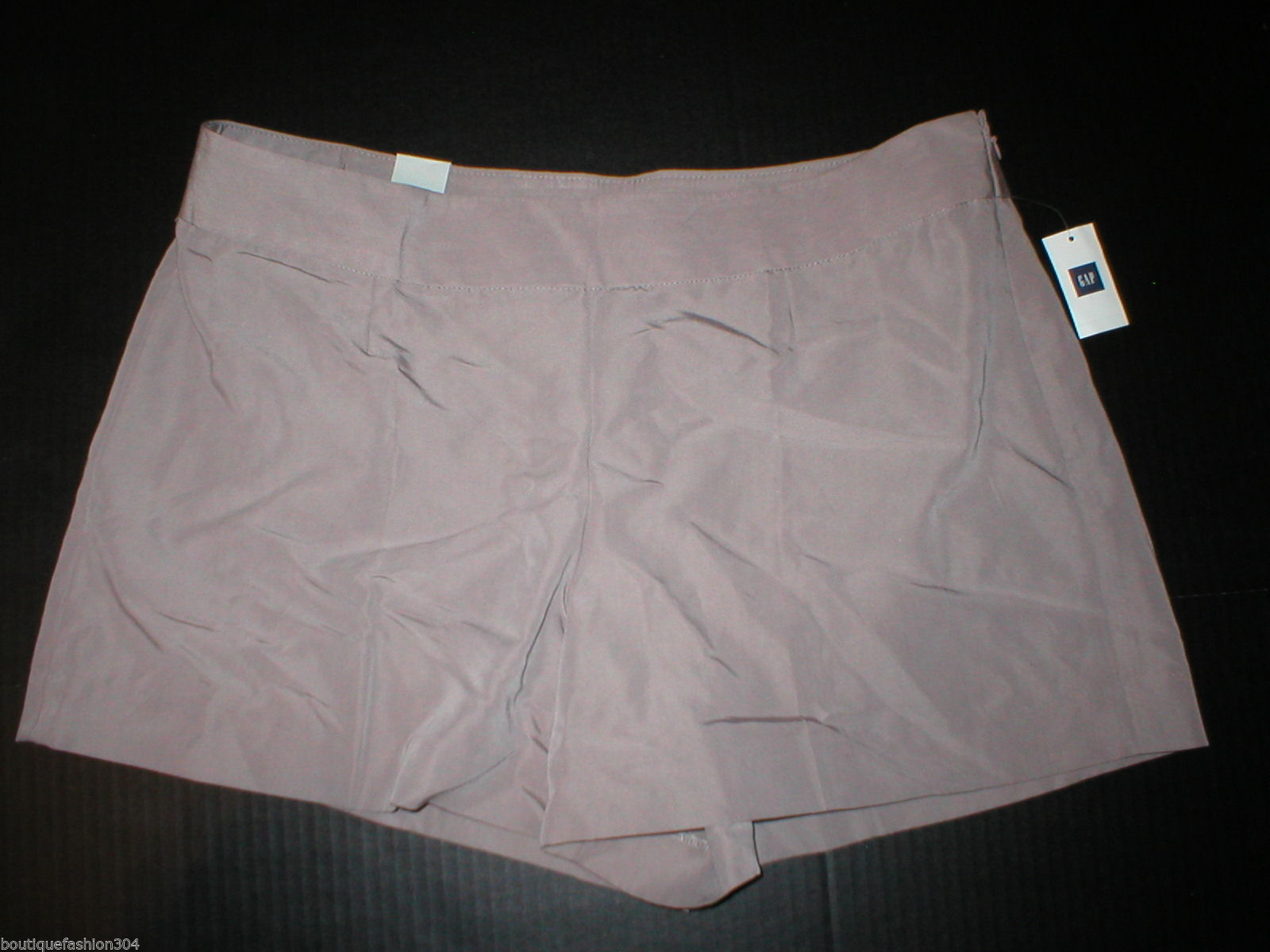 New Womens Gap $50 Office Dress Shorts 14 Light Brown Rayon Silky Work NWT Nice