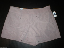 New Womens Gap $50 Office Dress Shorts 14 Light Brown Rayon Silky Work NWT Nice image 1