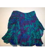 New Womens $898 Ralph Lauren Black Label 100% Skirt Silk Aqua Blue Teal ... - $359.20