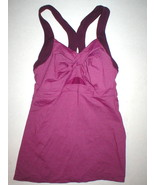 Womens Athleta Yoga Pilates Top Bra S Burgundy Purple Tank Jaya Twist Fr... - $11.00
