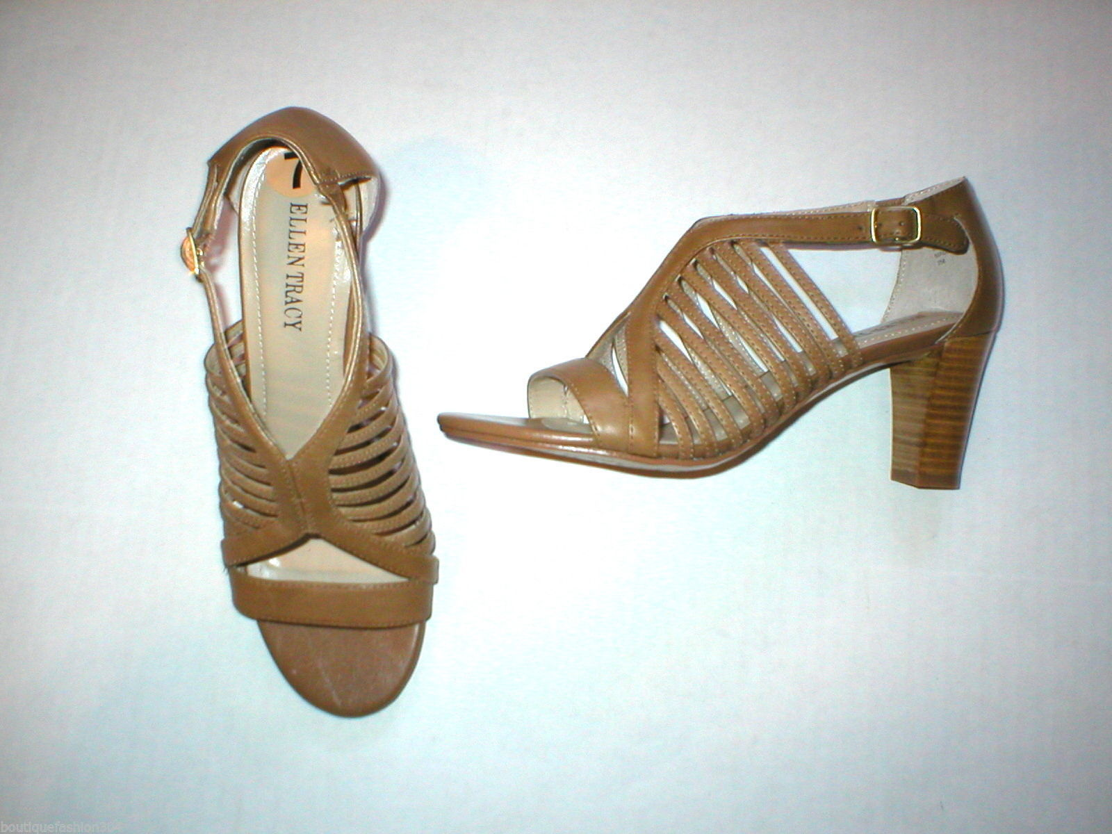 05ae1f13f28a New Ellen Tracy Sandal Heels Shoes Brown and 50 similar items. S l1600